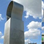 Composition en aluminium, Square Tino Rossi (Paris)