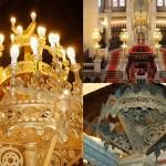 Lanterne en argent massif de la Grande synagogue de Paris