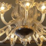 Lustres Murano, foyer du théatre de Cherbourg